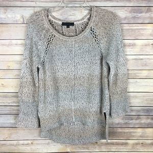 Sanctuary Sweater Small Brown Gray Long Sleeve